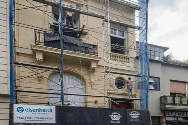 Restauracion y fachada simil piedra Brasil 765